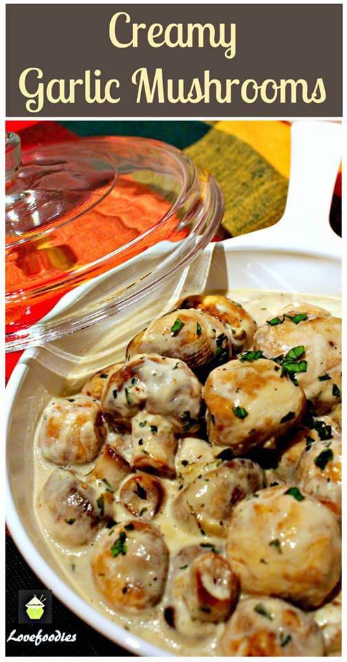 Creamy garlic mushrooms recipe. These are delicious and I love eating it in the spring/summer.
