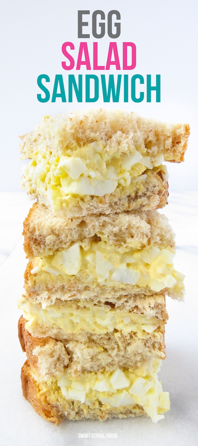 One of my very favorite things that my mom used to make were egg salad sandwiches!!
