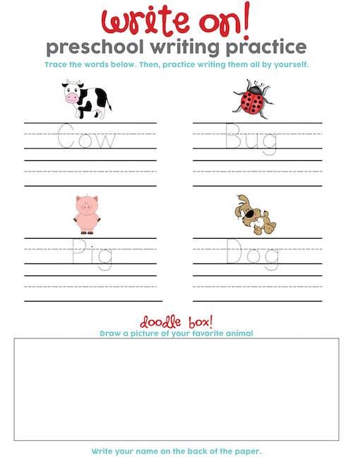 Preschool Word Practice