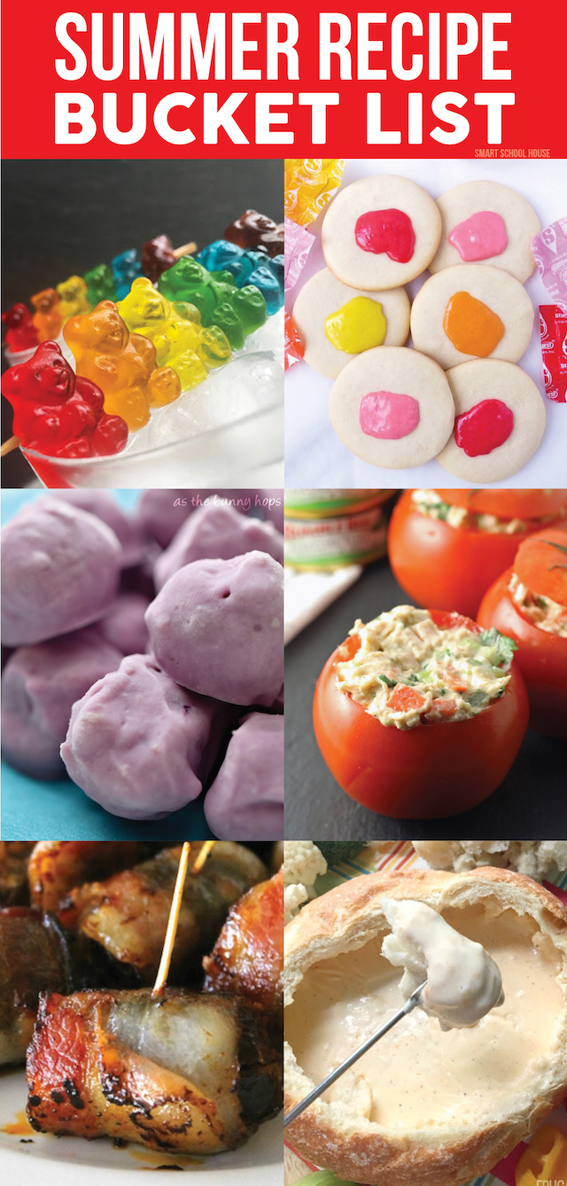 Summer Recipe Bucket List! 14 recipes to try this summer. Trying never hurt anyone!