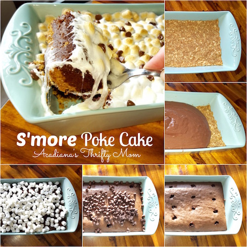 S'more Poke Cake Recipe - must try!