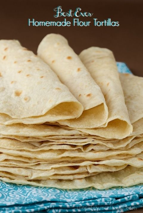 These Best Ever Homemade Flour Tortillas are so simple and unbelievably delicious!