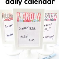 Erasable Daily Calendar
