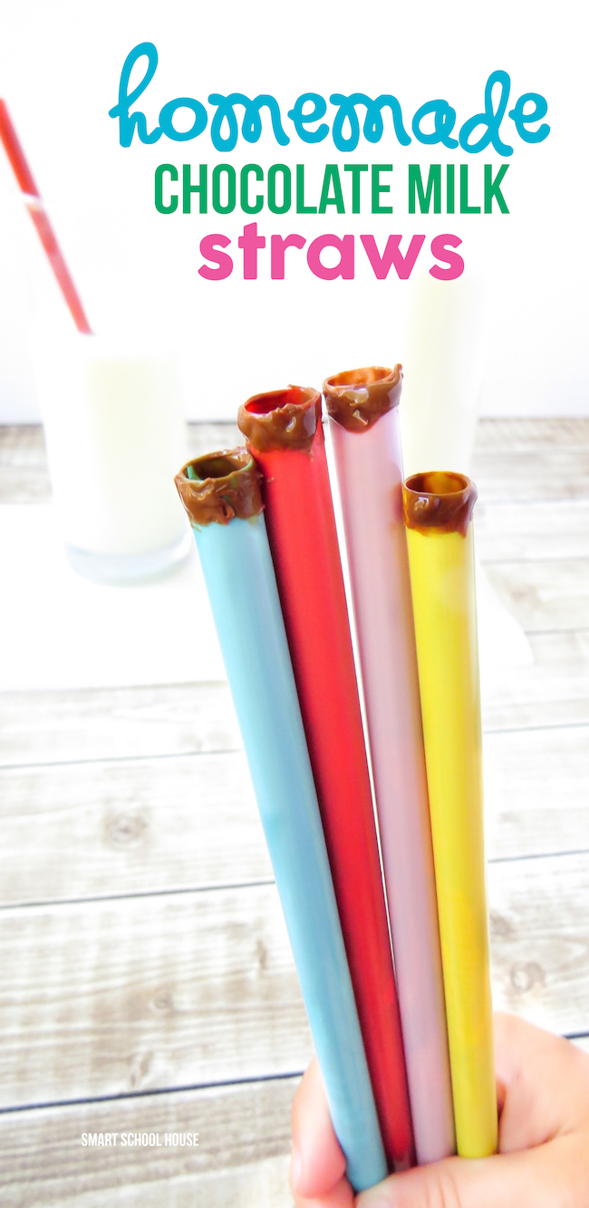 Homemade Chocolate Milk Straws!