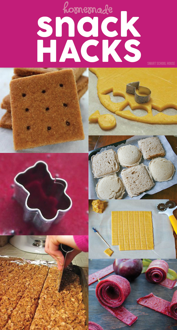 Homemade Snack Hacks! How to make fruit snacks, cheez-its, fishy crackers, uncrustables, fruit roll ups, graham crackers and SO much more!