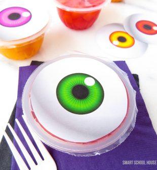 Spooky Eyeball Fruit Cups