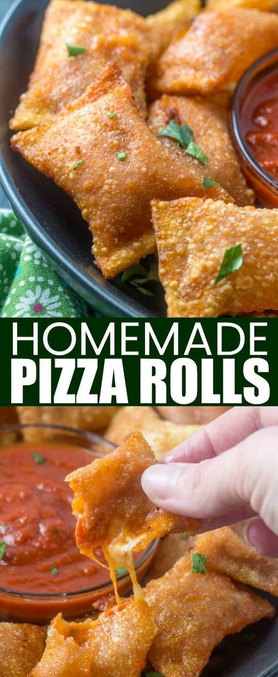 Like your childhood favorites these Homemade Pizza Rolls are stuffed with pepperoni, cheese and pizza sauce. Making these hand-held treats a fun weekday snack.