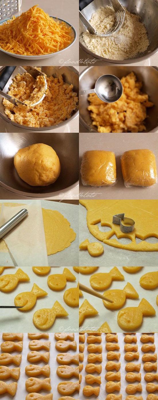 biscoitos caseiros de peixinho dourado