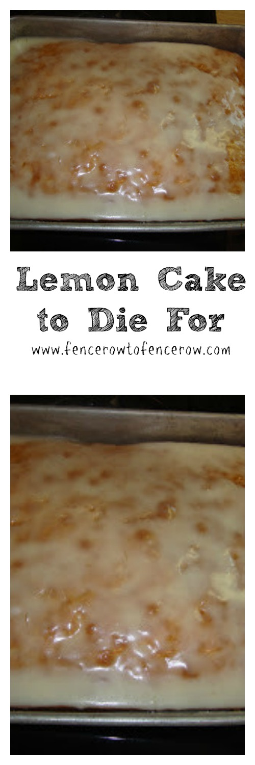 Lemon Cake Made with Pudding - Lemon Cake to Die for! Holy cow, this thing is incredible. I dare you to not eat more than one piece when you try it!