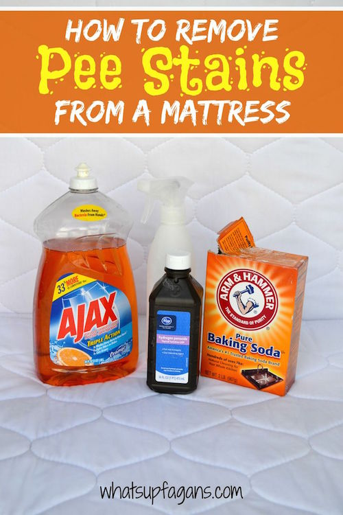 DIY Tutorial on how to remove pee stain from mattress using natural ingredients! It's an easy, quick, and effective cleaning solution.