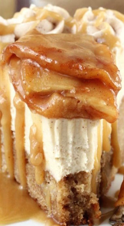Caramel Apple Blondie Cheesecake! I'd love to get around to making this someday. OMG!