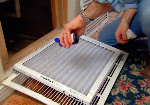 This is pure genius! Watch how this guy shows us how to make our whole house smell better by doing THIS to his air filter.