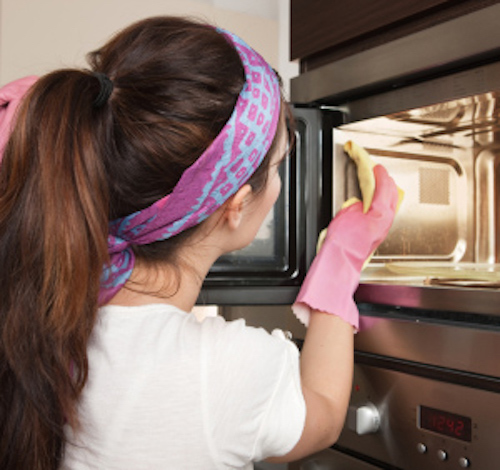 How to get the burn smell out of a microwave. I wonder if this works for that lingering bacon smell too?