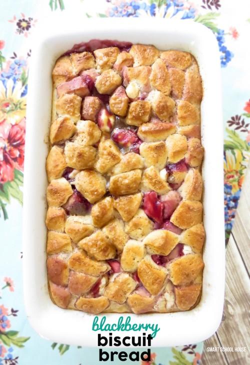 Blackberry Biscuit Bread recipe (we made it for breakfast!)