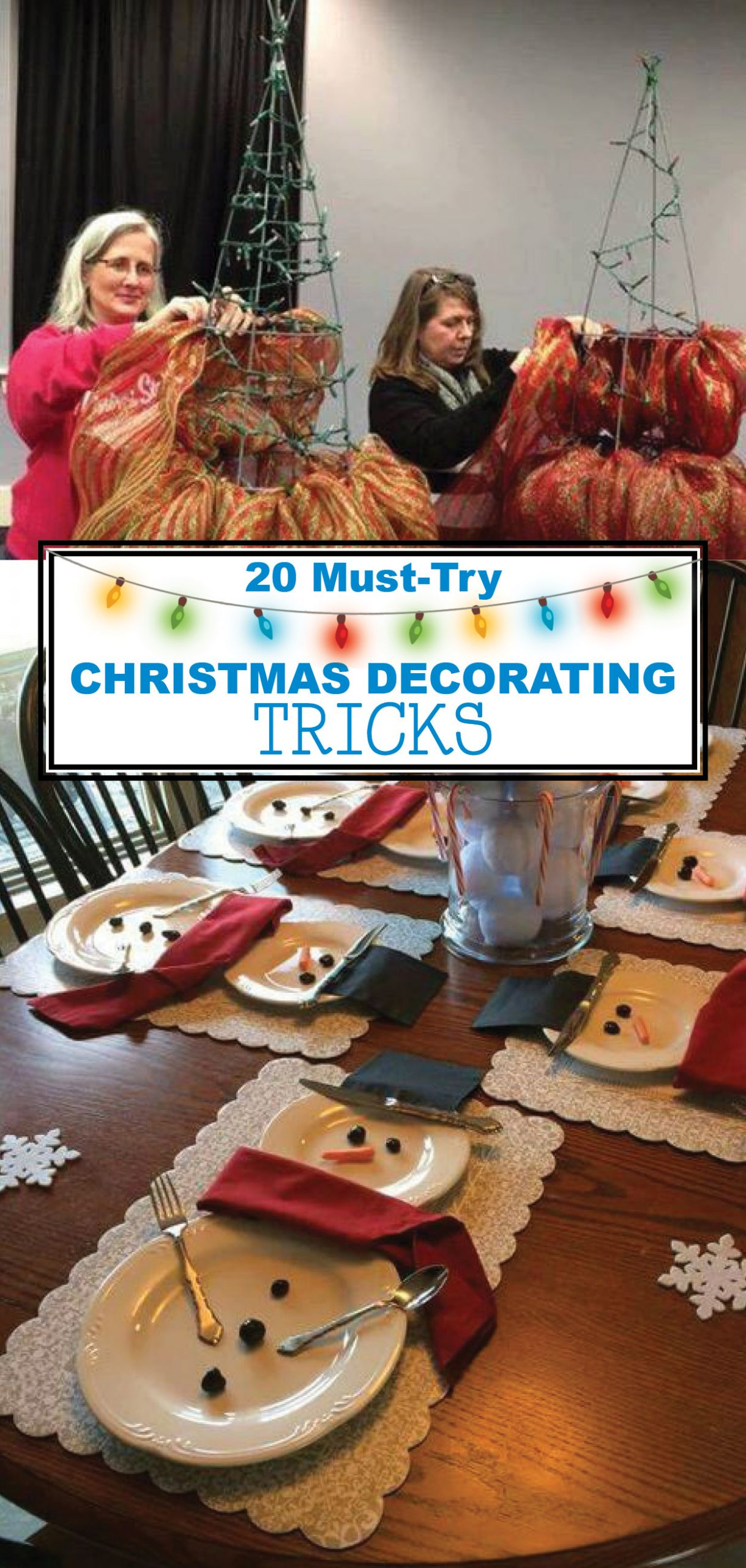 Christmas Decorating Hacks that save time and money. Easy DIY and craft ideas with pictures and supplies included! #DIYChristmas #HandmadeChristmas #HomemadeChristmasIdea #HomemadeChristmasDecor #DIYChristmasGift