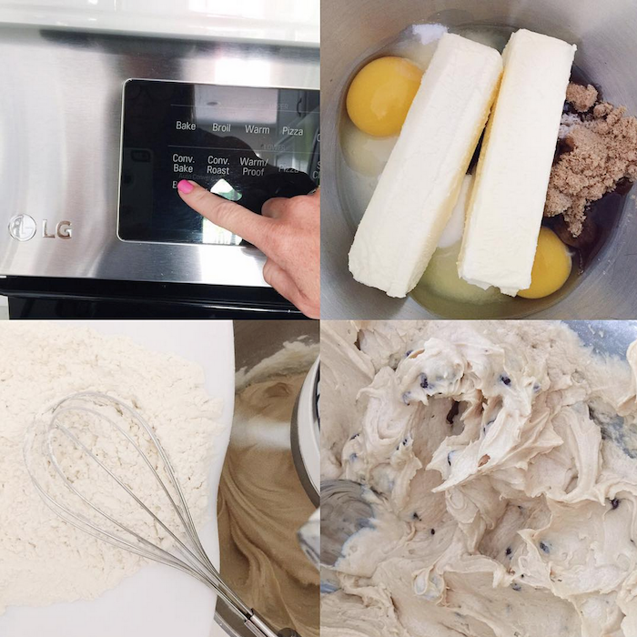 Baking Pazookie Cookie Cups with our LG ProBake oven on Instagram