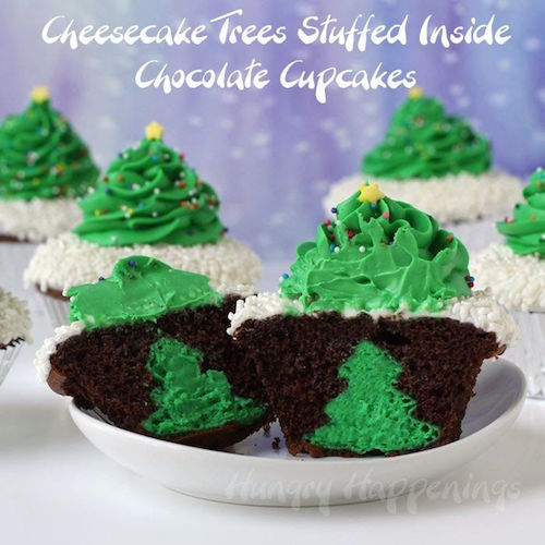 How to make Surprise Inside Christmas Tree Cupcakes