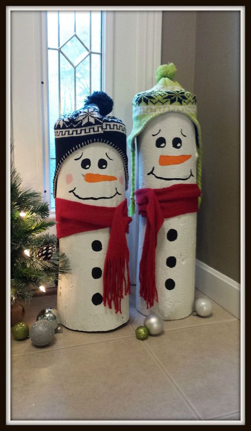 How to make Log Snowmen decorations!