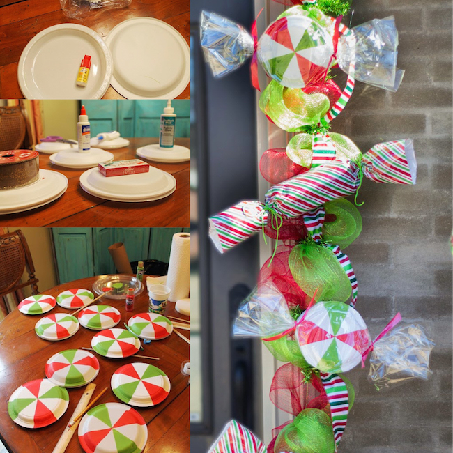 diy christmas candy mint garland a homemade way to decorate for the holidays - Candy Christmas Decorations