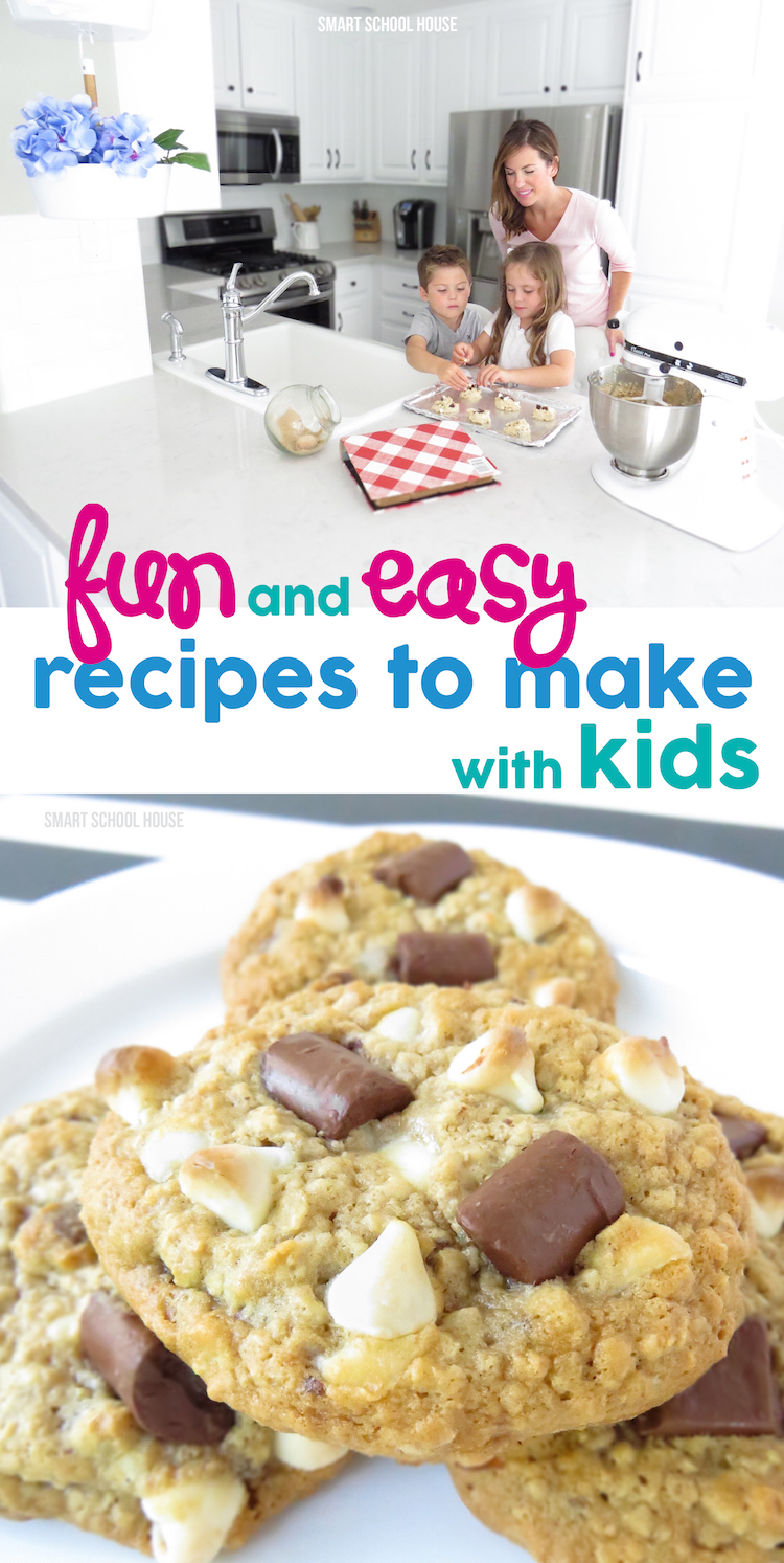 Fun and Easy Recipes to Make with Kids! Recipes for colorful and delicious cookies plus granola bars, candy dots, and even some casseroles to serve a crowd. My kids LOVE to help me cook!