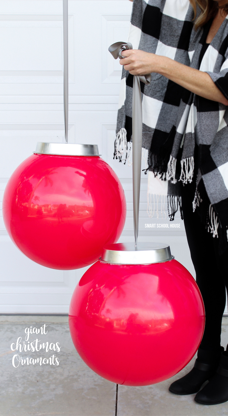 GIANT Christmas ornaments made with balls