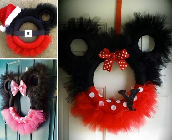 DISNEY CHRISTMAS WREATHS - these are precious! See how to make them: