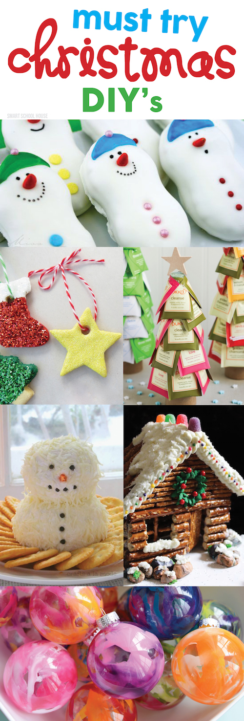 From sweet treats to cheery holiday crafts, these are the BEST Must Try Christmas DIYs ! You will love these neat ideas (and be sure to show your kids too!).