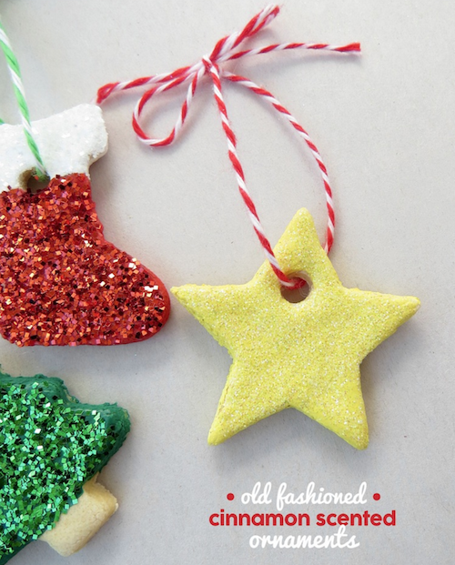 How to make cinnamon scented ornaments