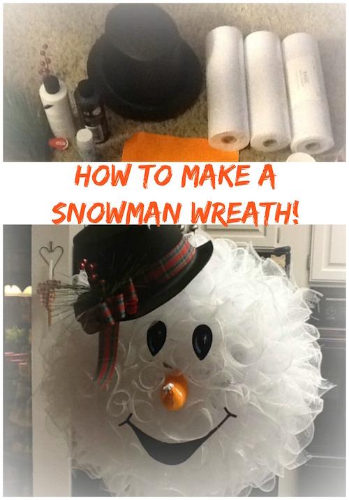 Make a Snowman Wreath