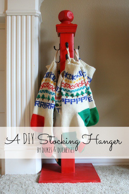 DIY Stocking Hanger. I love how organized this is!
