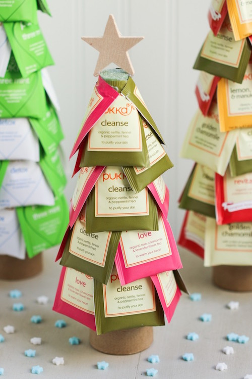 DIY Christmas Tea Trees