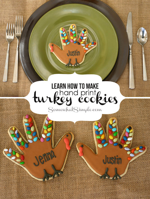 Handprint Turkey Cookies for Thanksgiving