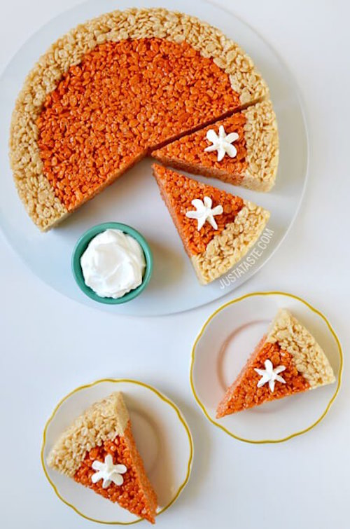 Pumpkin Pie Rice Krispies Treats