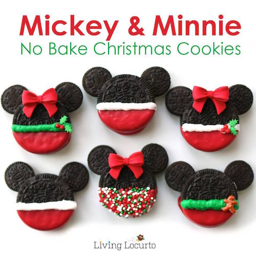 Mickey & Minnie Christmas Cookies. These are actually easy to make and were inspired by a winter trip to Disney World (how fun!).