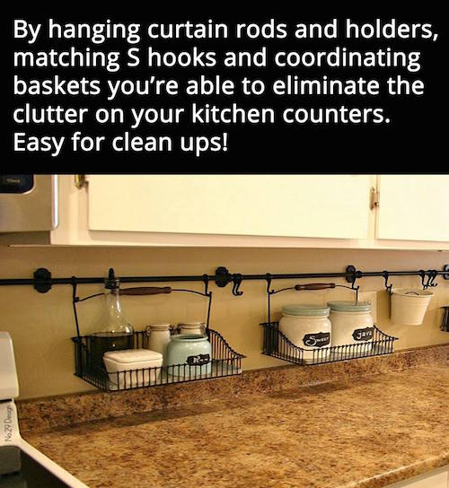 Is your kitchen feeling cluttered? Consider this brilliant and beautiful idea!