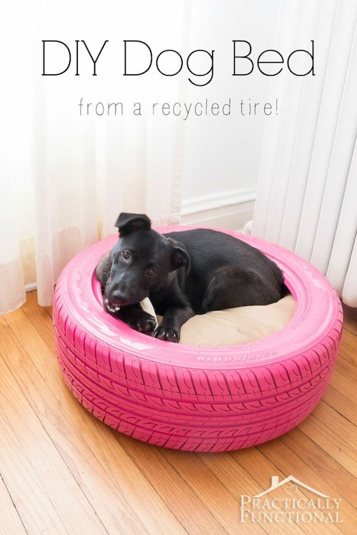 Make a dog bed using an old tire with this great DIY tutorial!