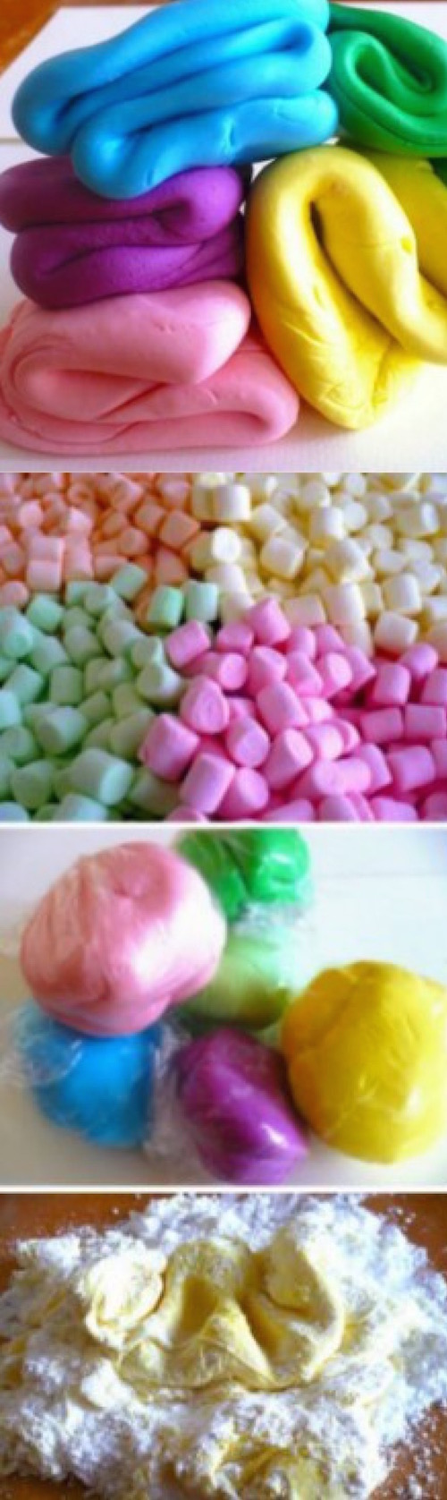 This is MARSHMALLOW RAINBOW FONDANT and my guess is that it tastes delicious! Use it to decorate desserts!