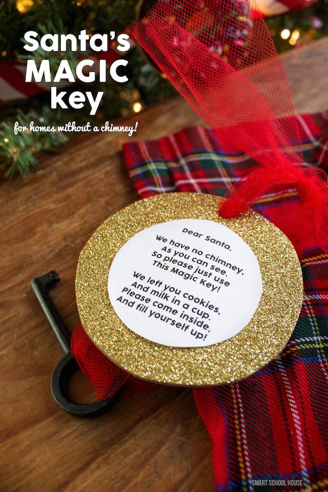 Santa's Magic Key! No chimney for Santa to come down? No problem!