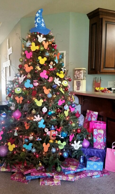 disney themed christmas tree
