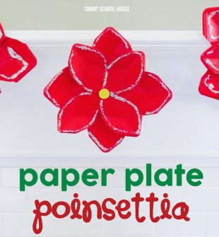 Paper plate poinsettia for kids