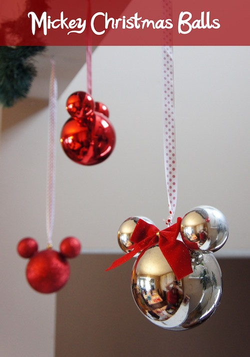 DIY Mickey and Minnie Christmas Ornaments. These are beautiful!