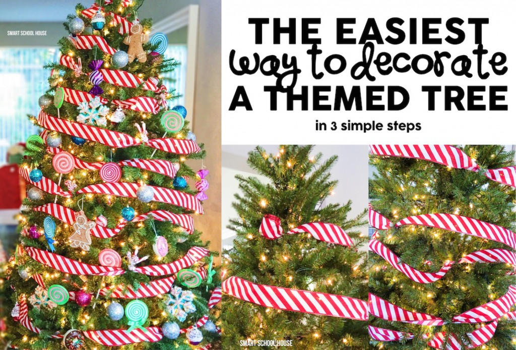 the easiest way to decorate a christmas tree