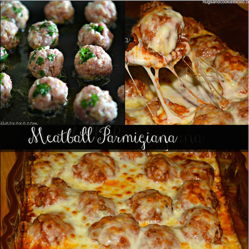 Baked Meatball Parmesan - the casserole recipe that makes any day better!