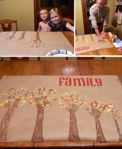 Make Family Trees with your hands. Oh my goodness I love this so much!