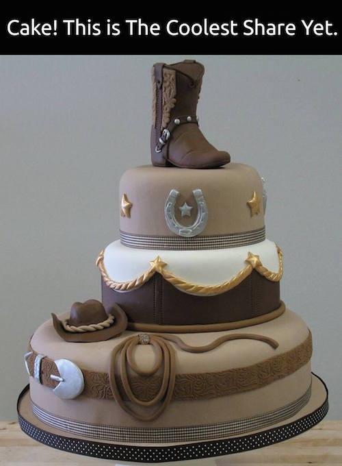 Cowboy cake idea (or cowgirl cake!). Wow!