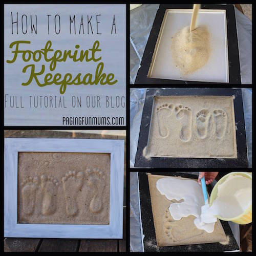 How to make a sand footprint keepsake. LOVE this!
