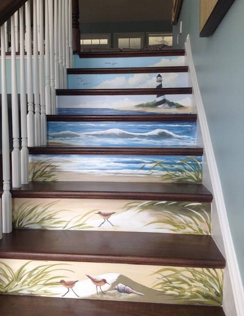 Beautiful painted stairs!