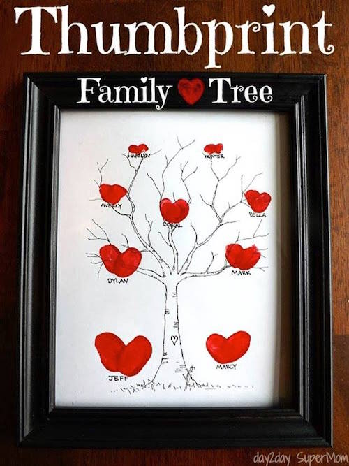 Thumbprint Family Tree! What a cute idea!