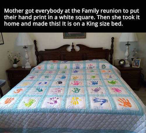 Handprint quilt - Oh my goodness I just love this!
