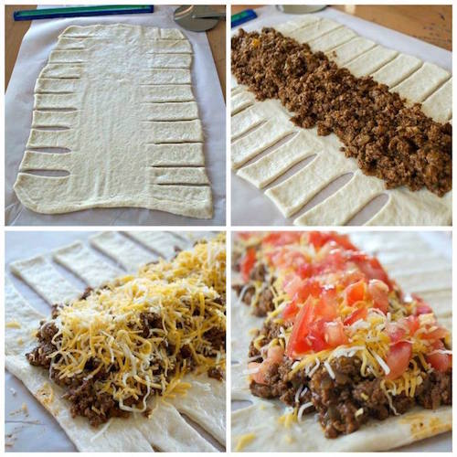 The Taco Braid - Love tacos? Give this a try! I've heard it changes your life (hah!).